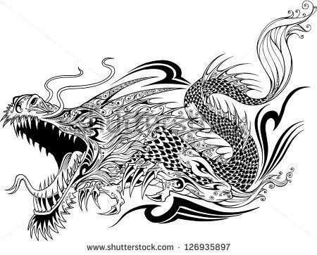 Free Dragon Vector Art Free Vector For Free Download About 92 Free Vector In Ai Eps Cdr Svg Format Dragon Sketch Dragon Tattoo Sketch Tattoo Sketches