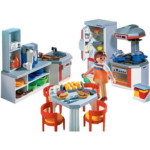 Playmobil Kitchen With Dinette Set