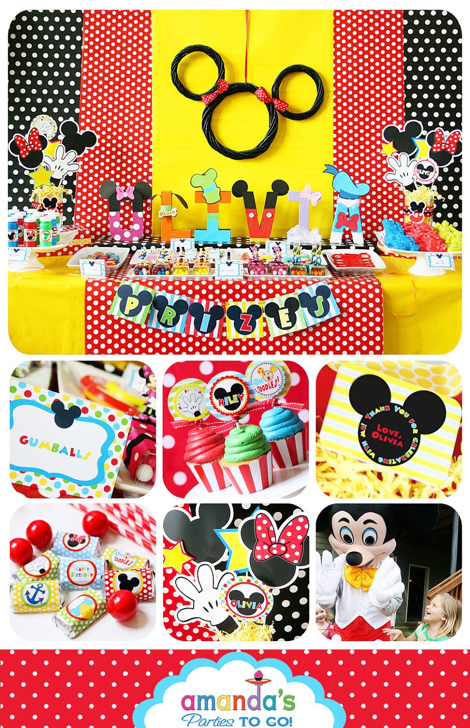 Mickey Mouse Birthday Decorations Mickey Mouse Party Decorations Mickey Mouse Clubhouse