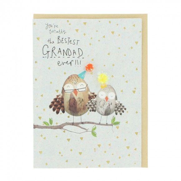 Owls Grandad Birthday Card Paperchase Goodies Pinterest Birthdays