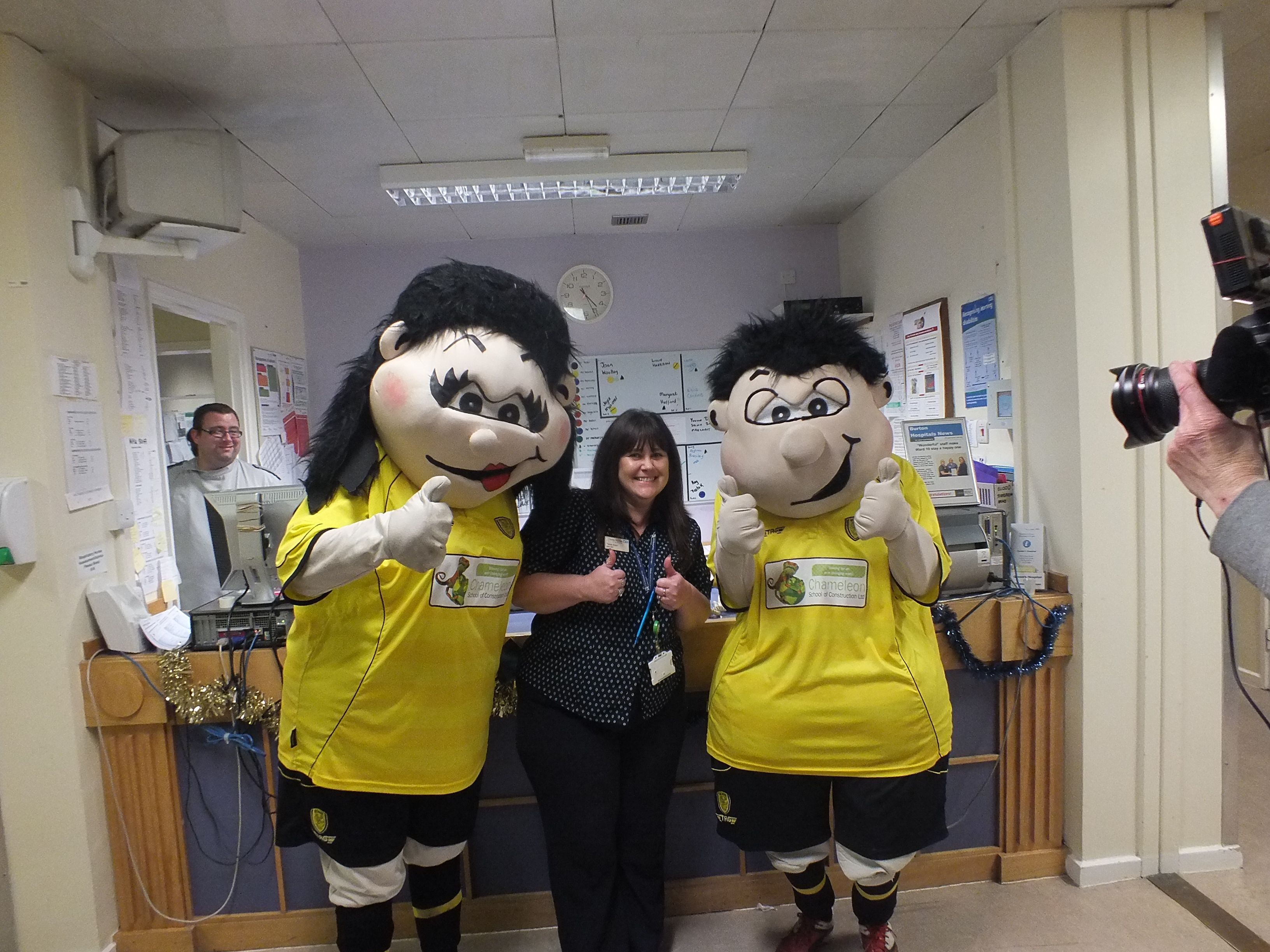best ideas about burton albion fc risborough ward clerk tracey elson burton albion football club mascots billy and betty brewer during a