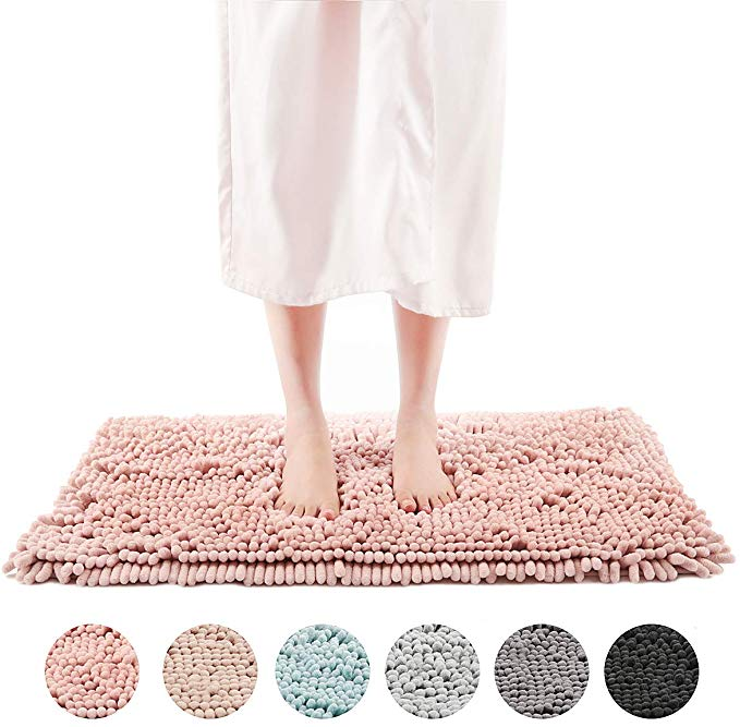 Amazon Com Freshmint Chenille Bath Rugs Extra Soft And Absorbent