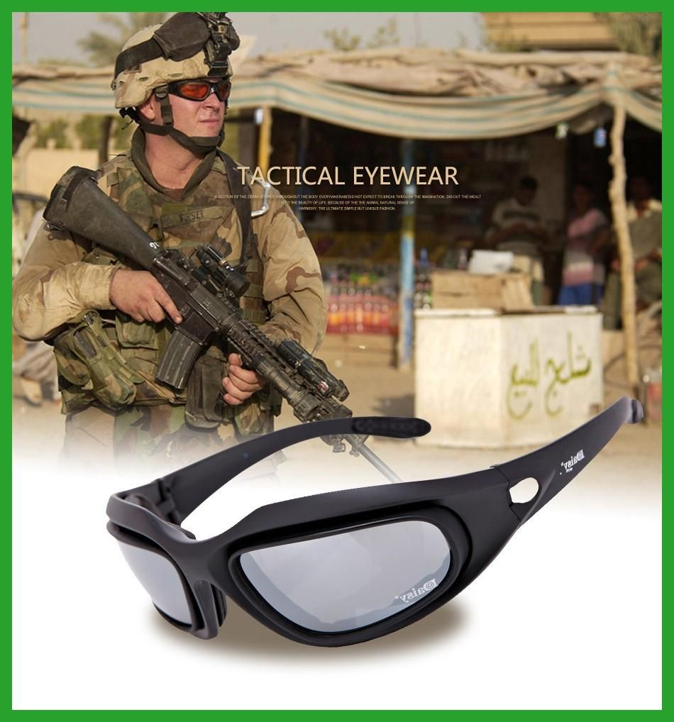No-branded Polarized Outdoor Tactical Glasses Windproof Military 4 Lens Kit Military Goggles Outdoor Sunglasses