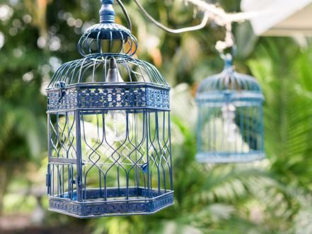 After Hour Soirees Require A Little Mood Lighting. Upcycle Birdcages Into Colorful  Outdoor Lanterns