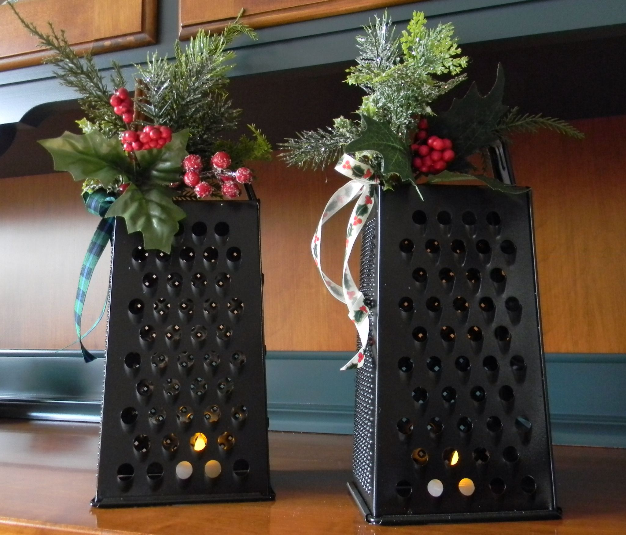 Repurposed graters for a touch of Christmas in the kitchen Use with