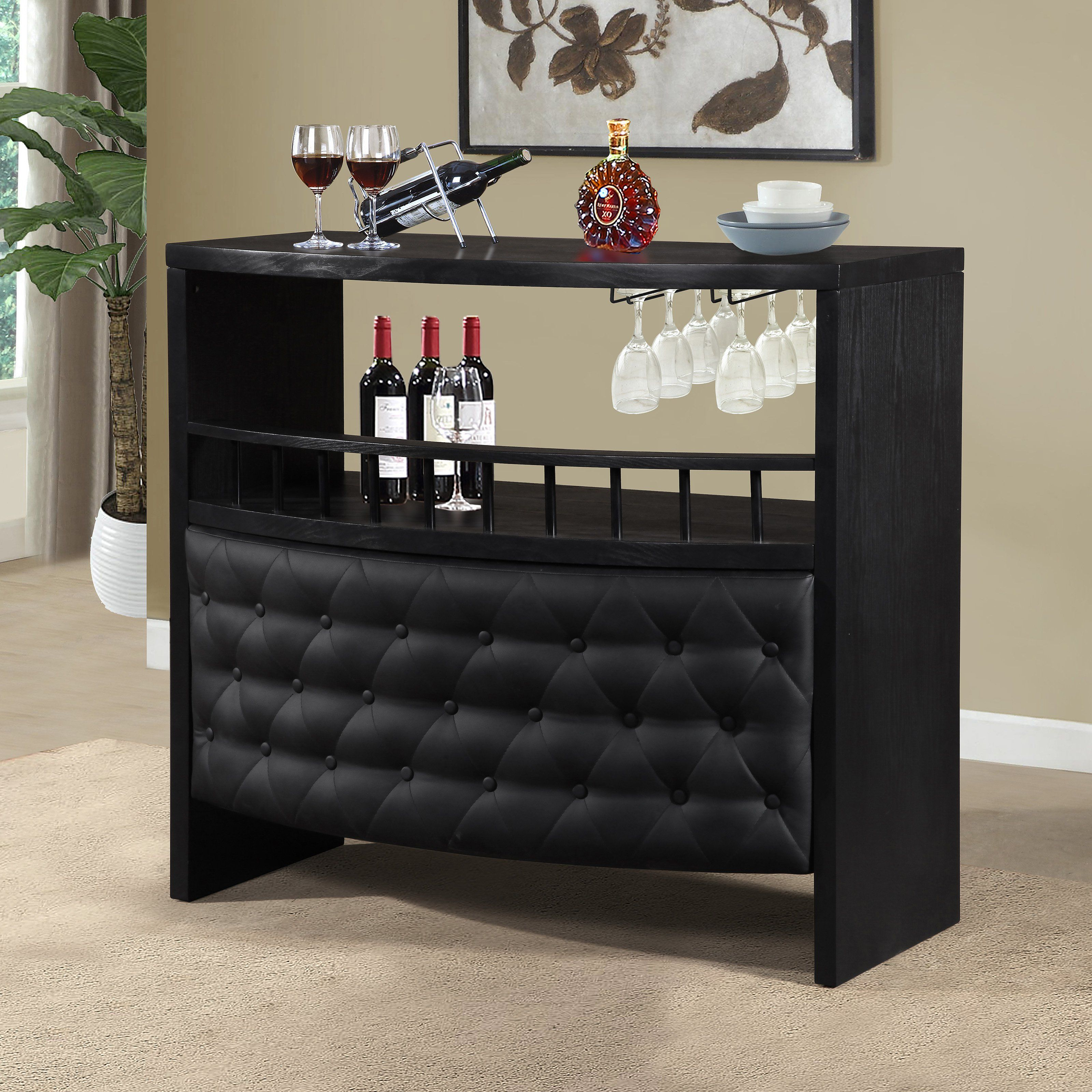 Home Source Industries Home Bar With Storage - From Hayneedlecom