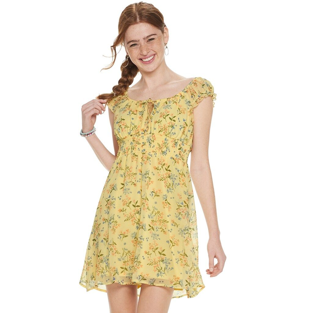 Juniors Lily Rose Smocked Waist Skater Dress Dresses Junior Dresses Kohls Dresses [ 1024 x 1024 Pixel ]