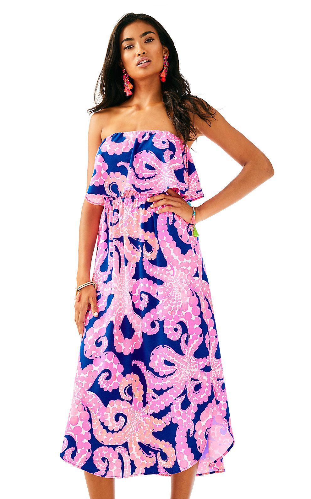 8559bb3b696 Lilly Pulitzer Womens Meridian Midi Dress