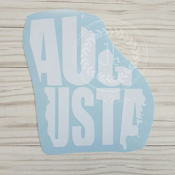 Augusta georgia ga vinyl decal state city cutout by jedesignshop