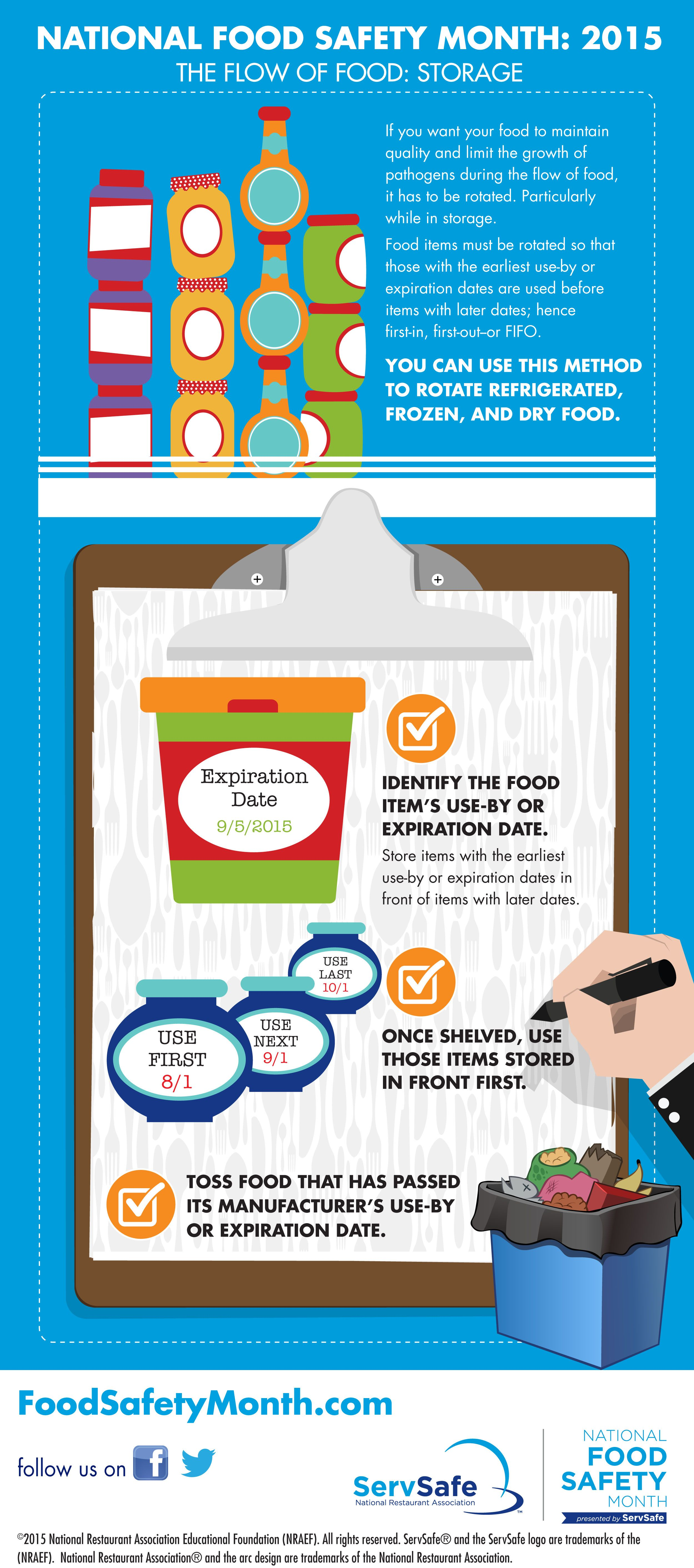 follow food safety education month tips every day safe food is national food safety month 2015 infographic about food storage safety foodsafetymonth letitflow