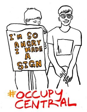 I'm so angry i made a sign #occupycentral