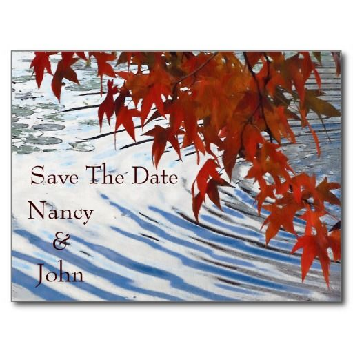 autumn Save the date Post Card