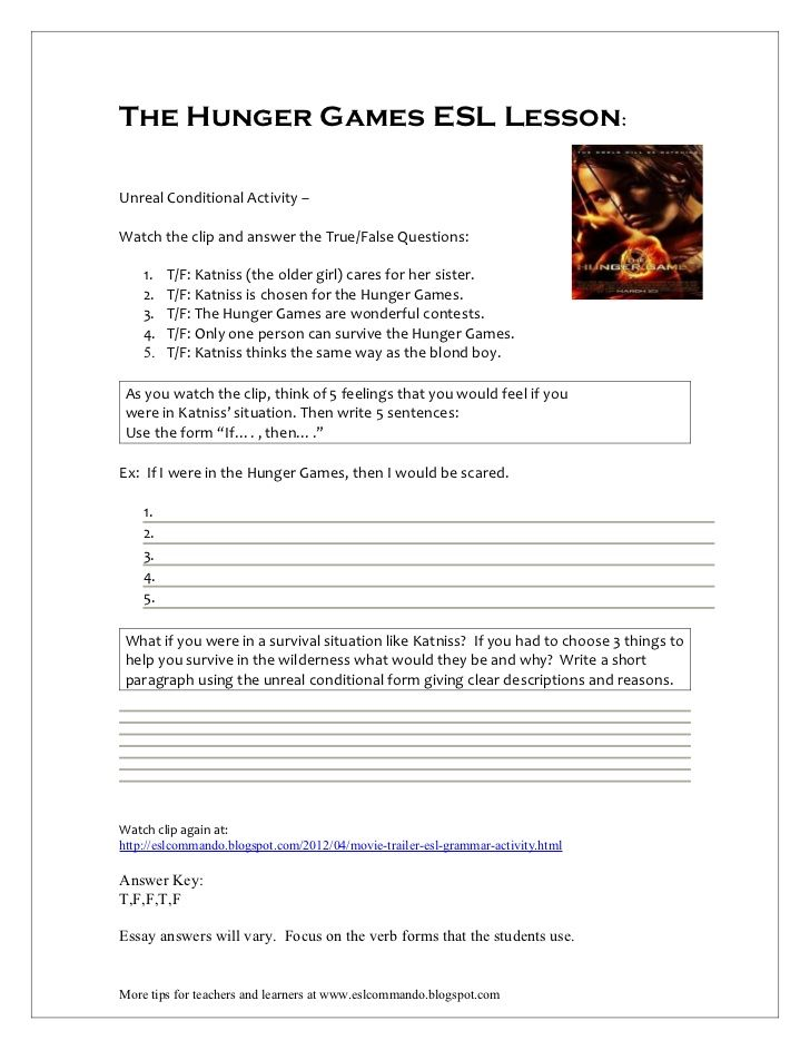 the hunger games esl lesson ms tsering s esl class resources