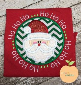 ho ho ho 2 santa circle machine embroidery applique designs buy 2 for 4 use - Santa Hohoho 2