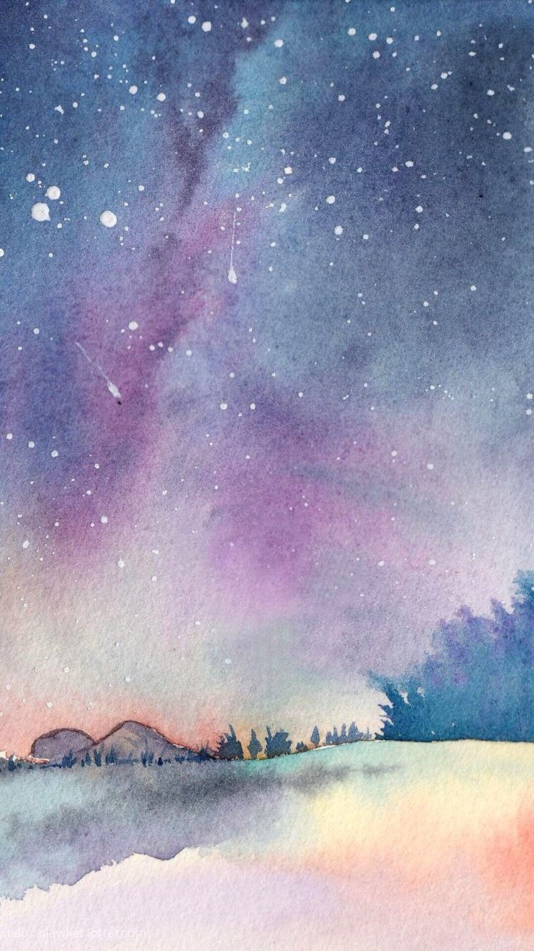 Watercolor iphone wallpaper tumblr - Wallpaper Backgrounds Iphone Wallpapers Purple Wallpaper Iphone Watercolor Wallpaper Iphone Cute I Love You Galaxy Galaxy Purple Sky Night Skies