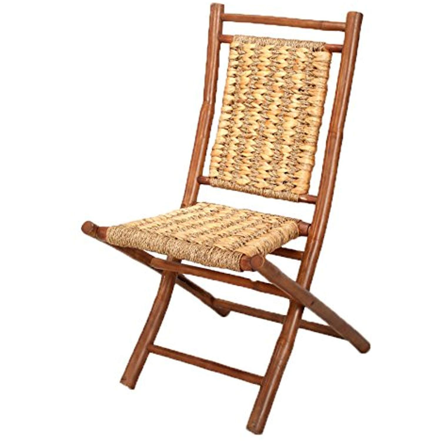 cf8097fa248 Heather Ann Creations Bamboo Folding Chairs with Open Link Combo Weave