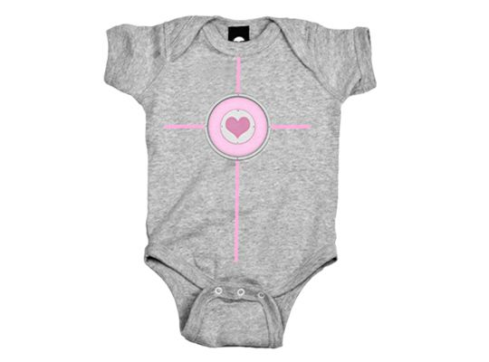 J!NX : Portal 2 Companion Cube Girls Baby Creeper $19.99 (they have pink for a girl and blue for a boy)