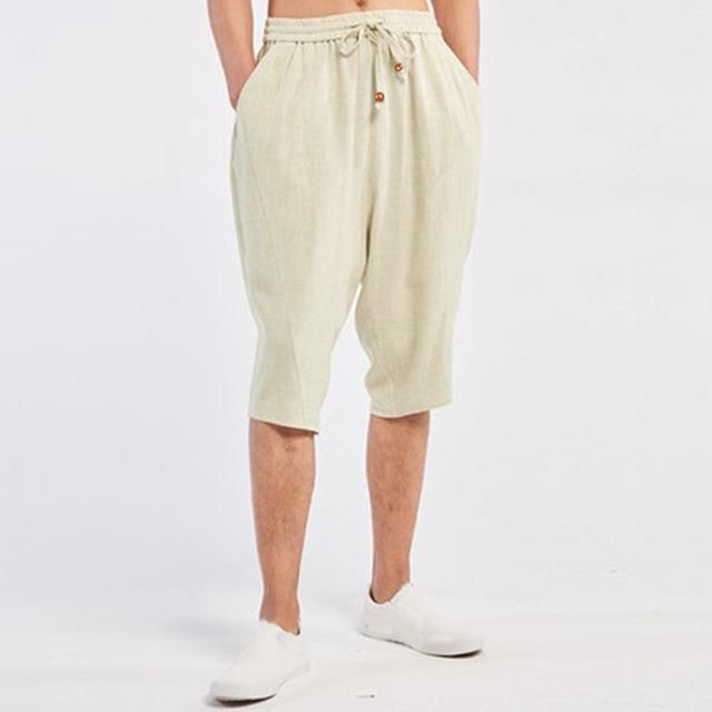 INCERUN Men's Wide Crotch Harem Pants