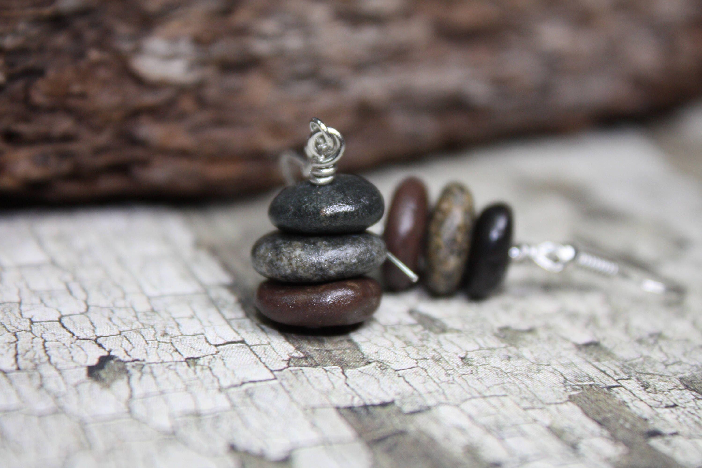 Pacific Ocean rock necklace Rock necklace rock necklace California beach pebbles brown rock cairn natural rock jewelry Oregon Coast