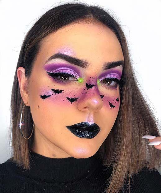 21 ideas de maquillaje de murciélago para Halloween 2020 |  Página 2 de 2 |  StayGlam  – Maquillaje