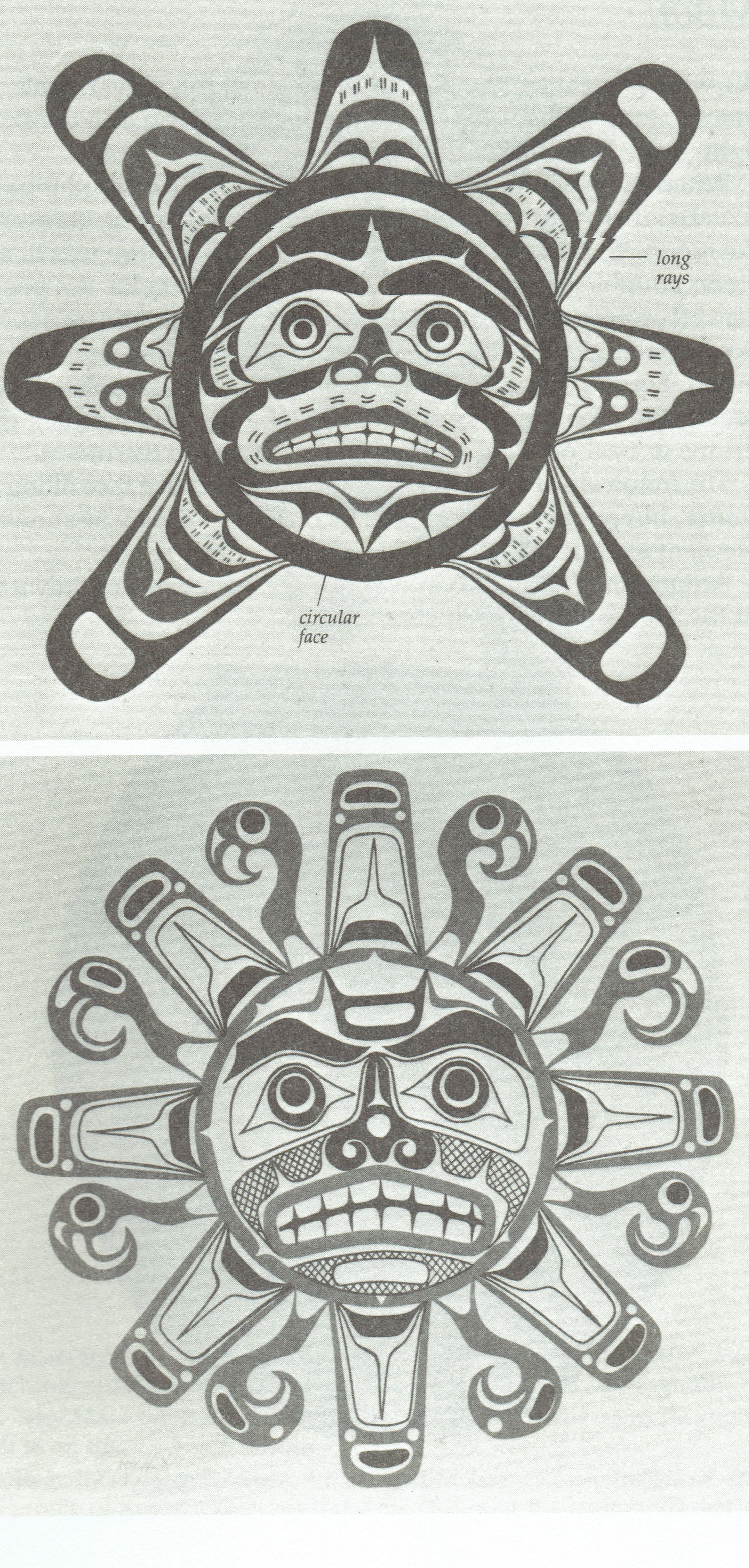 Depiction Of West Coast Native Sun Design By Kwakiutl Artists Larry Rosso And Tony Hunt