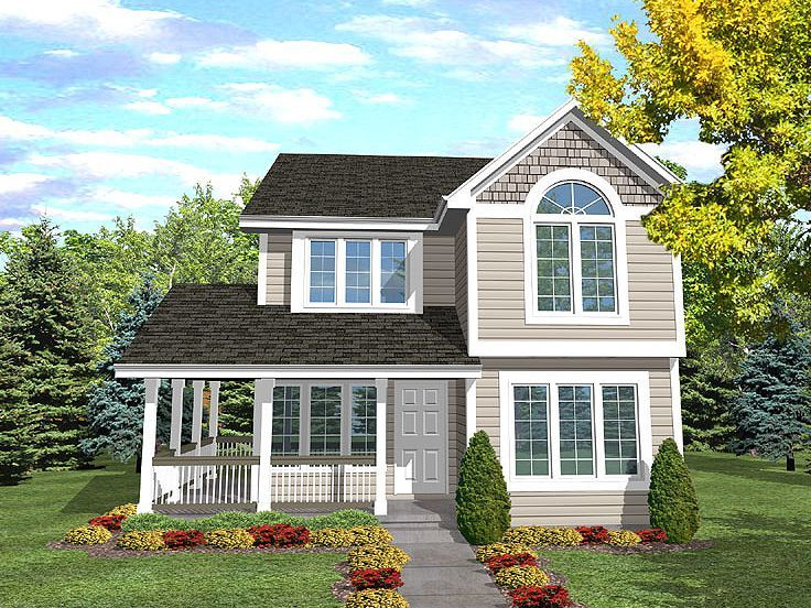 Narrow Lot Home Design, 016H-0004 - wow, very similar to our house ...
