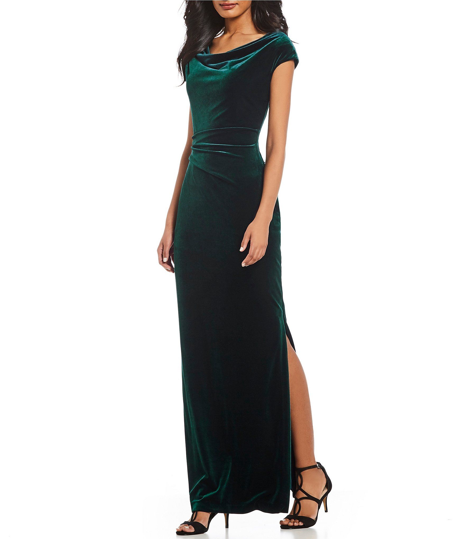 Vince Camuto Ruched Cap Sleeve Velvet Gown Dillards Velvet Dress Long Velvet Gown Velvet Bridesmaid Dresses [ 2040 x 1760 Pixel ]