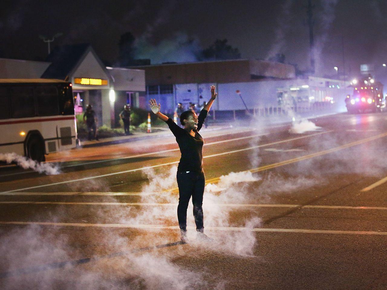 Ferguson Standing Strong Ferguson Missouri Police Hands Up