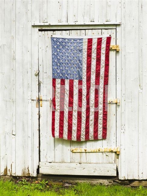 American Flag Draped Door Of Barn Photographic Print At Art Com Flag American Flag Art Com