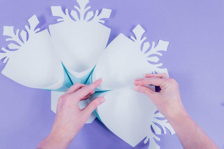 Paper Snowflake Tutorial Easy Diy Giant Snowflake Template