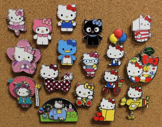 99a6677b4 Hello Kitty Pin Collection | Hello Kitty | Hello kitty accessories ...