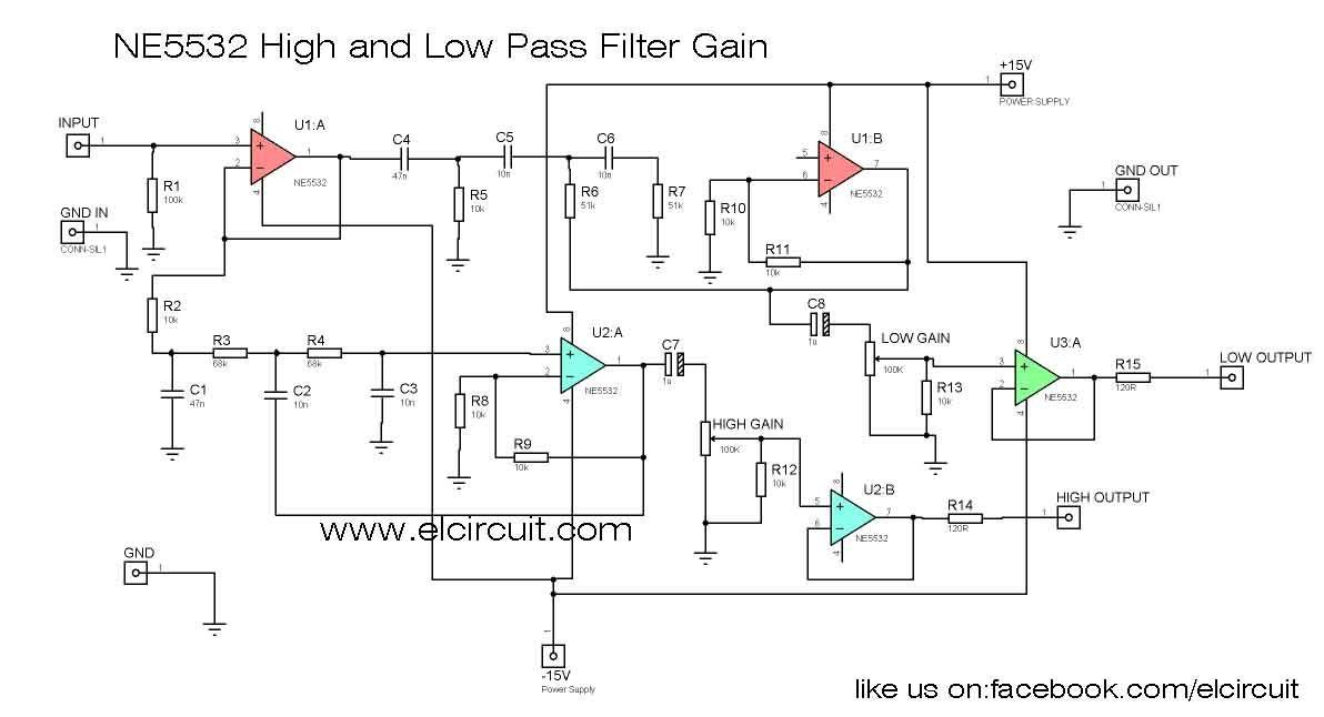 Ne5532 High And Low Pass Output Filter Circuit Pinterest Rhpinterest: Jackson Power Supply Wiring Diagram At Gmaili.net