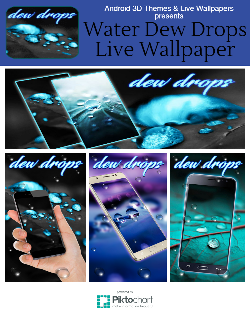 Water Dew Drops Live Wallpaper Water Dew Drops Live Wallpaper Turn Your smart phones into Live water HD screen. Water Dew Drops Live Wallpaper is give ...