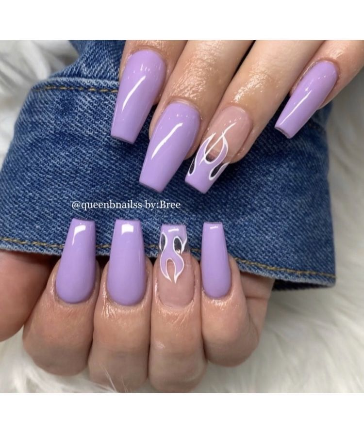 Therealnailinspo In 2020 Acrylic Nails Coffin Short Acrylic Nails Purple Acrylic Nails