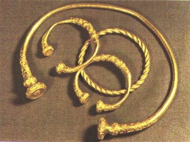 Torcs of gold Celts Pinterest Gold Ancient jewelry and History