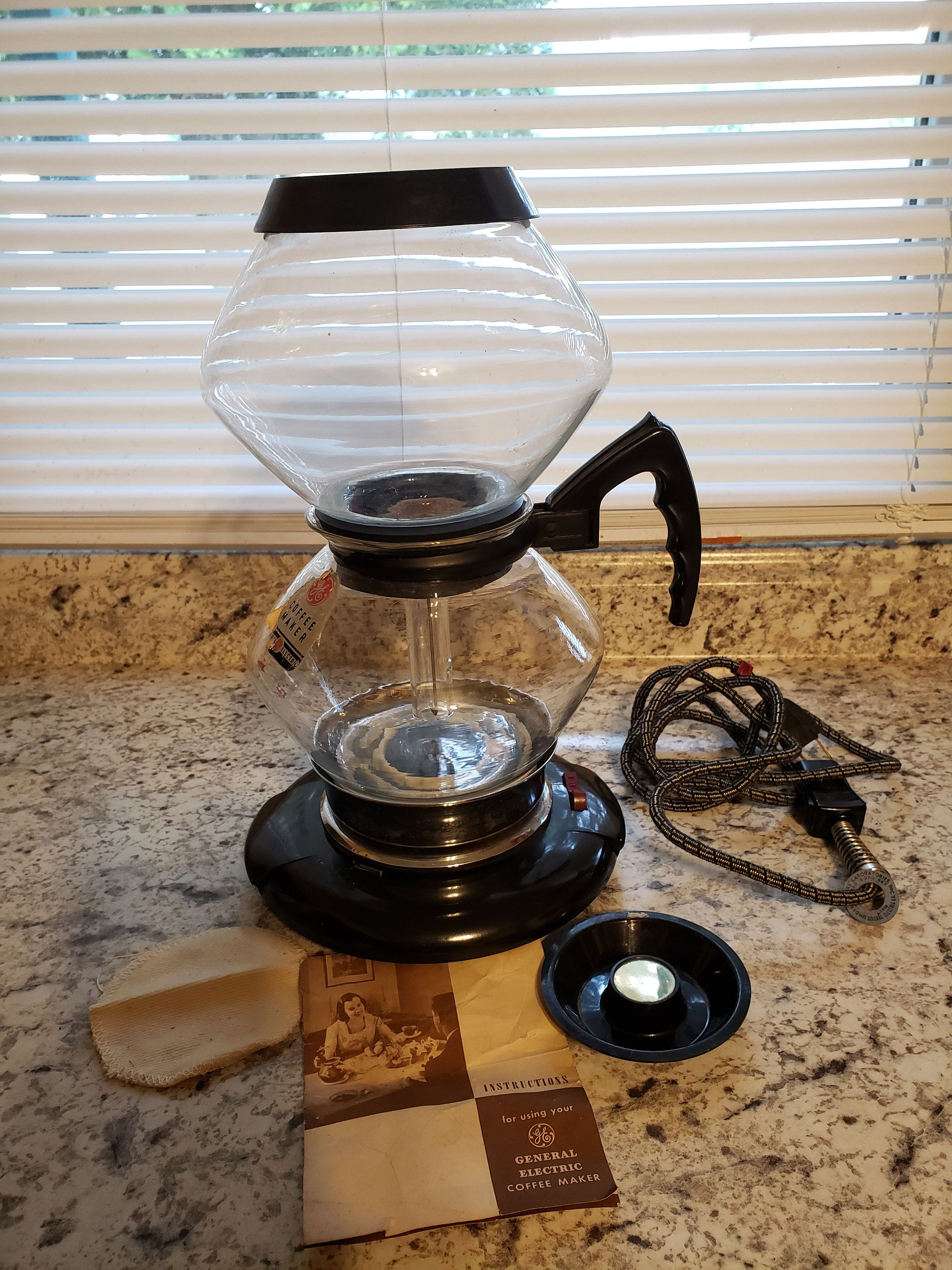 General electric coffee pot with instructions pyrex coffee