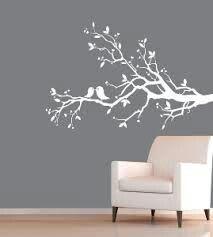 Love birds on a branch wall sticker