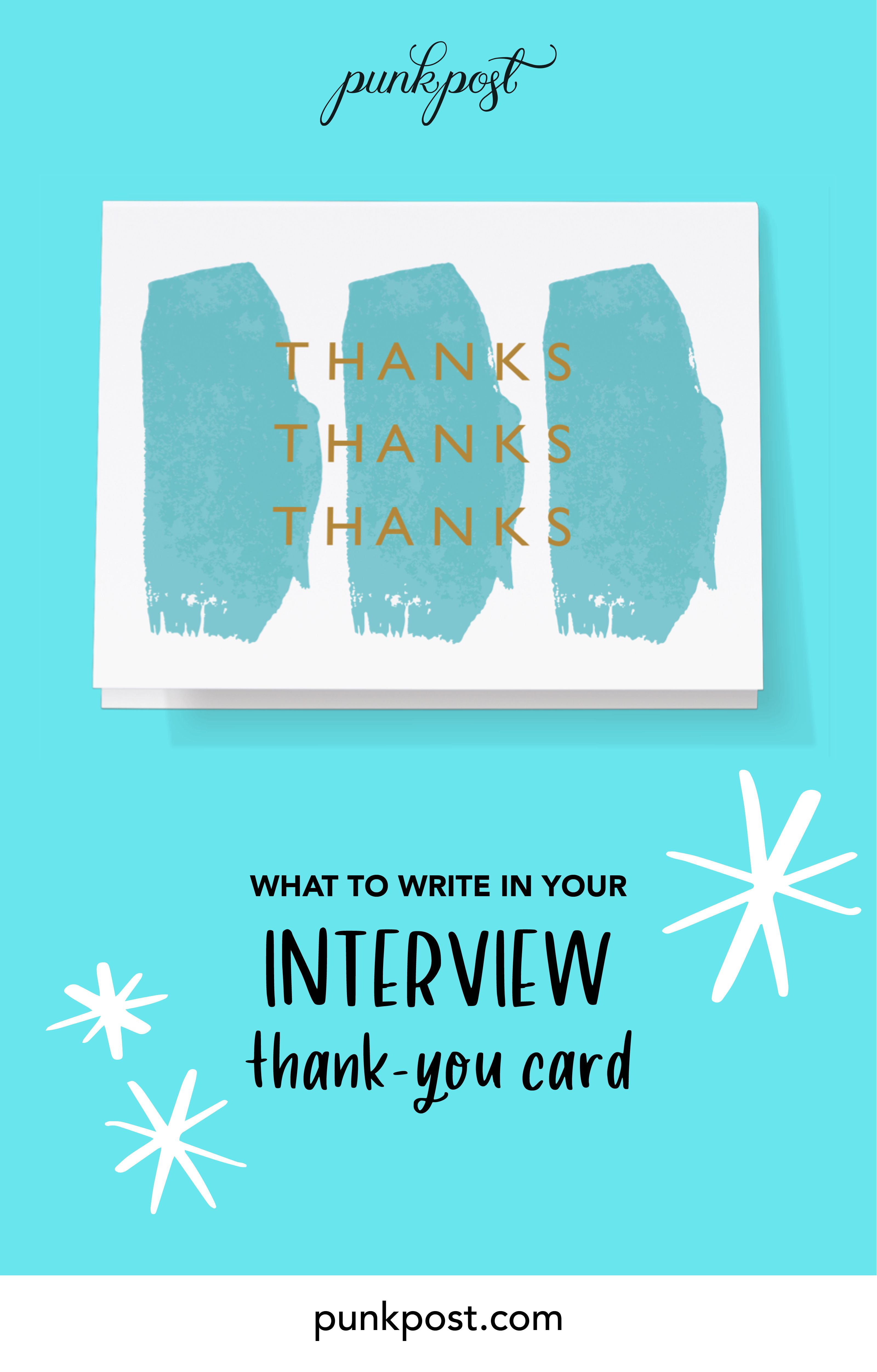 how to write a job interview thankyou card  thank you