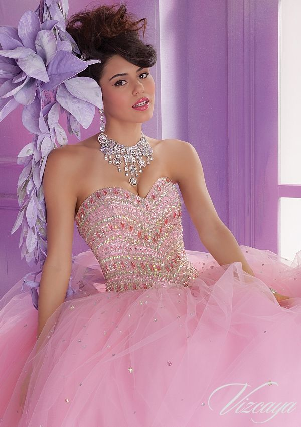 Quinceanera Gowns Style 89003: 89003 Tulle Quinceanera Ballgown with ...