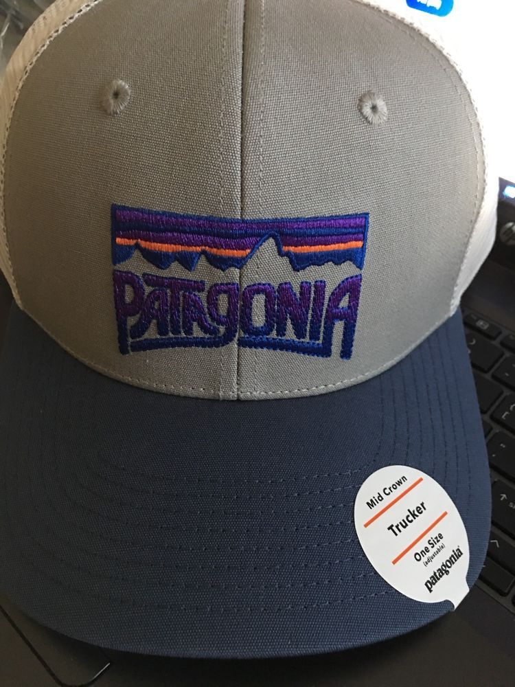 8899a52e5aa Patagonia Fitz Roy Frostbite Trucker Grey Snapback Cap Hat 38201 Mid Crown  NWT  fashion  clothing  shoes  accessories  mensaccessories  hats (ebay  link)