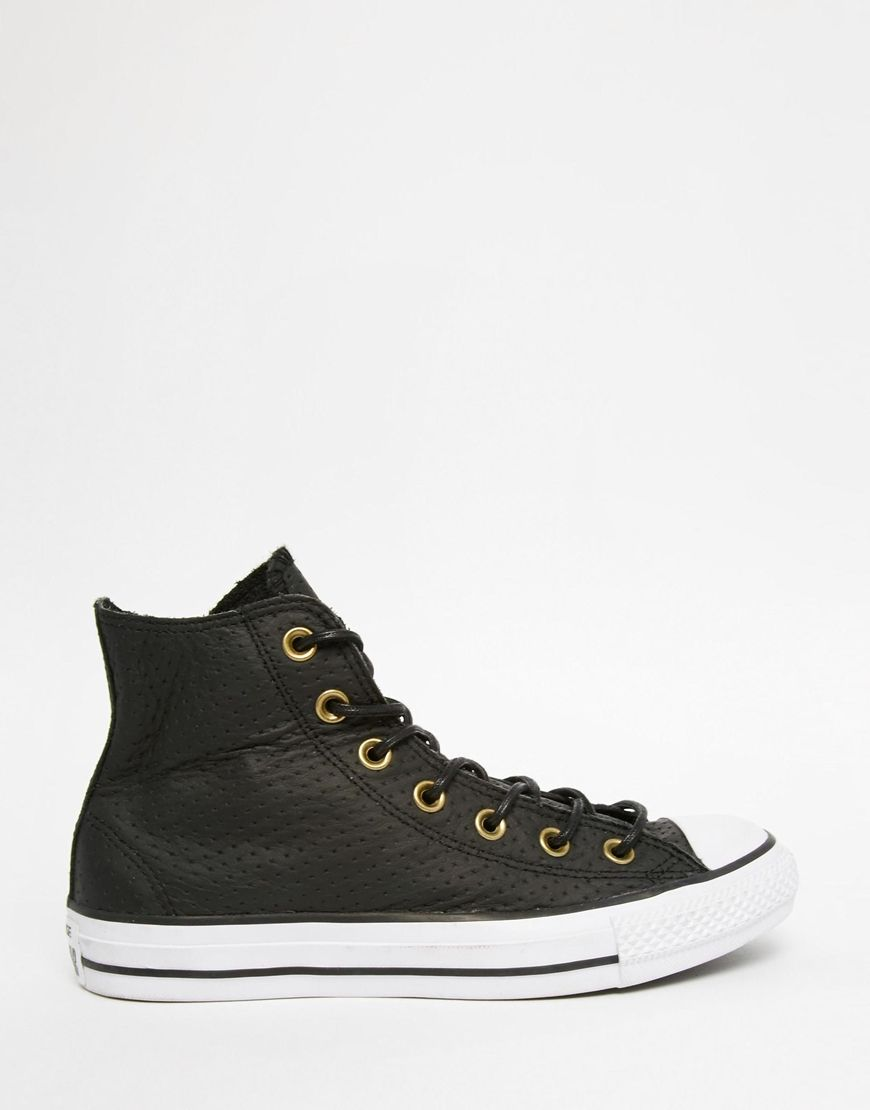 Converse Chuck Taylor All Star Platform Faux Shearling Hi-Top Trainers Womens Sports footwear Womens Trainers COLOUR-black/natural