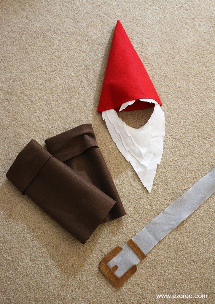 DIY Tutorial - How to Make a Gnome Halloween Costume