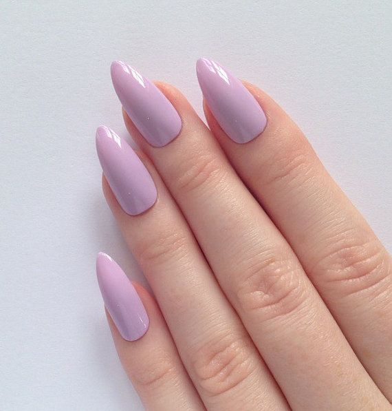 Http Tipsalud Lilac Stiletto Nails Nail Designs Art