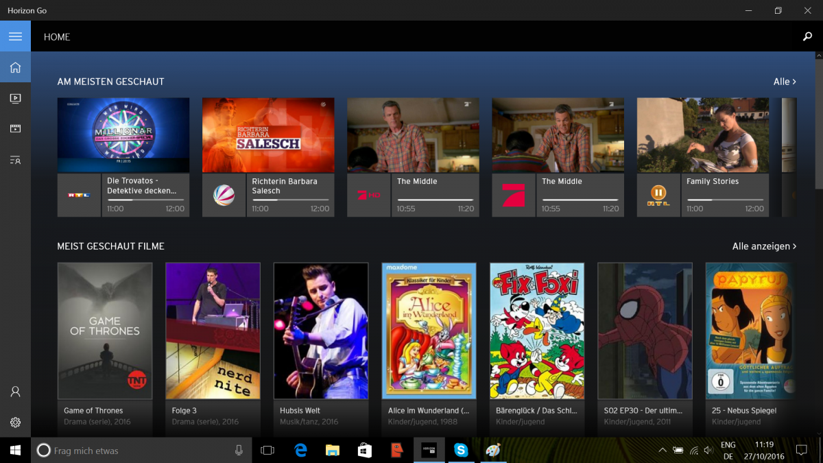 Unitymedia Brings Horizon Go To Windows 10