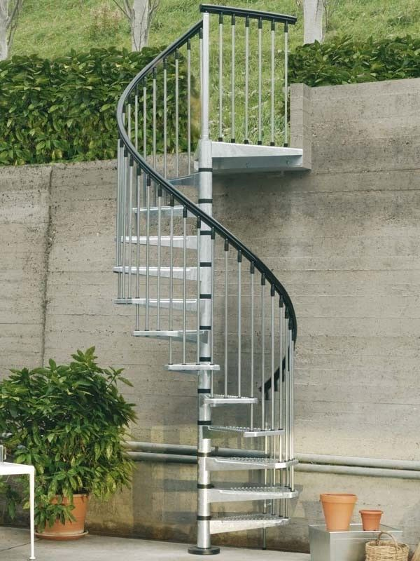 Best Arke Enduro 55 Dia Steel Outdoor Spiral Staircase Kits 400 x 300