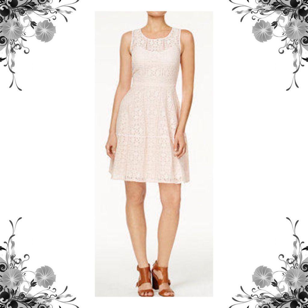 Lace dress pink  Tommy Hilfiger Nwot Blush Pink Lace Dress  Pink lace dresses