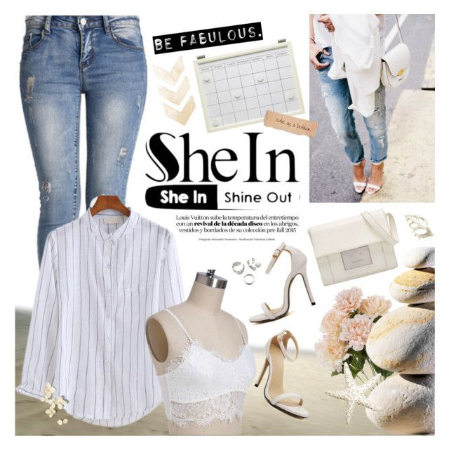 """SheIn - Be fabulous!"" by anita-n ❤ liked on Polyvore featuring mode en Pottery Barn"