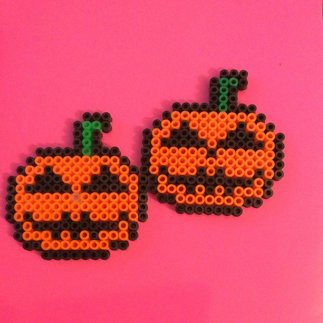 Zucca Di Halloween Pyssla.Pumpkins Halloween Hama Beads By Pois Pois Pois Camilla Pyssla
