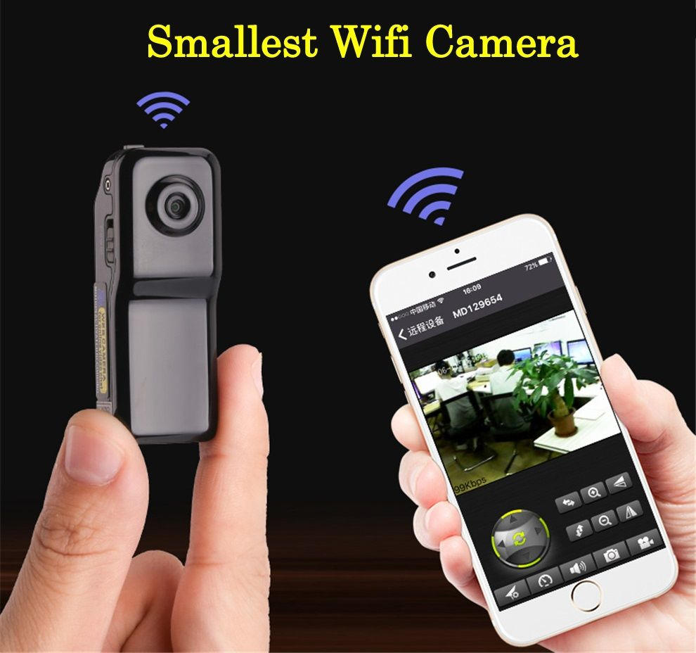 Smarcent MD81S Mini Camera Wifi IP P2P Wireless Camera Secret ... for Mini Spy Camera For Iphone  173lyp