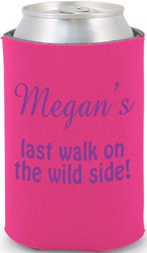 Totally Wedding Koozies - bachelorette party design